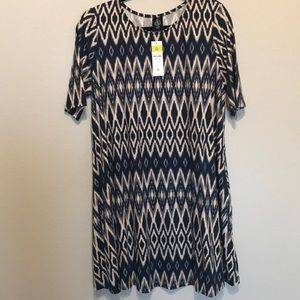 Agnes and Dora swing tunic Aztec navy and ivory